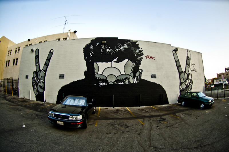 Street Art in Downtown Los Angeles, California