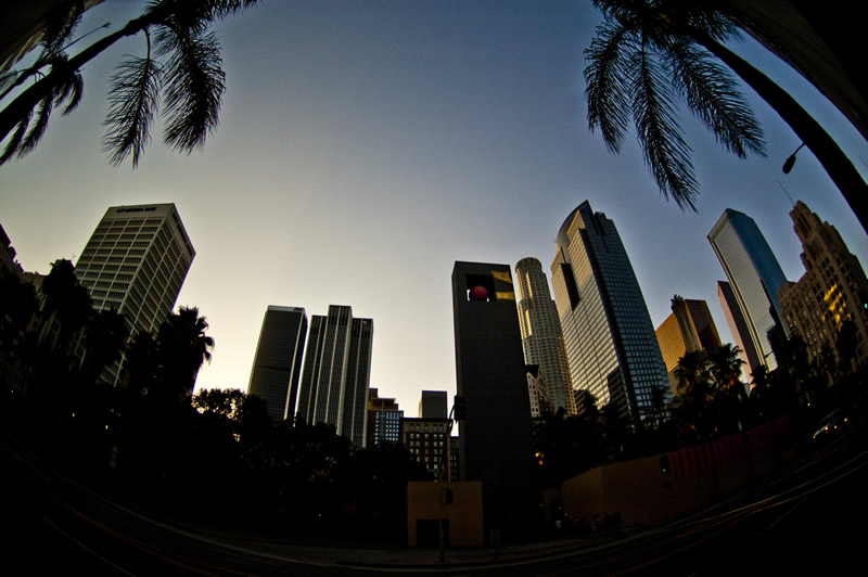 Pershing Square Downtown Los Angeles, California