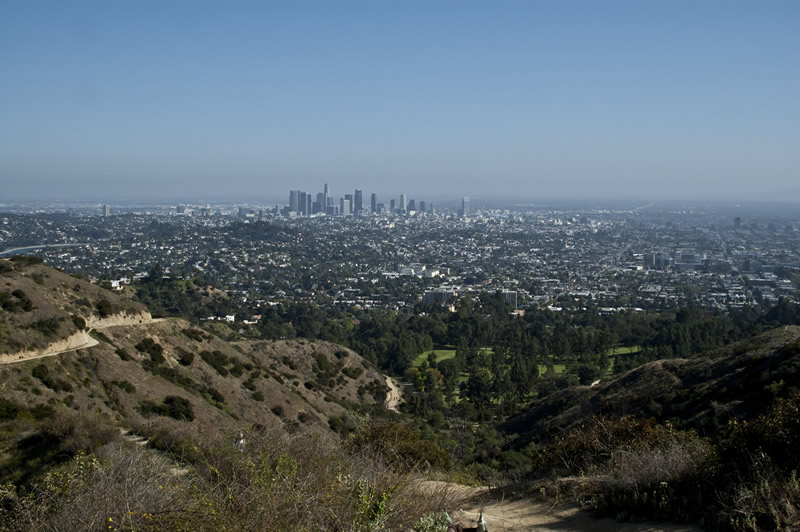 Griffith Park April 2012 view of downtown Los Angeles