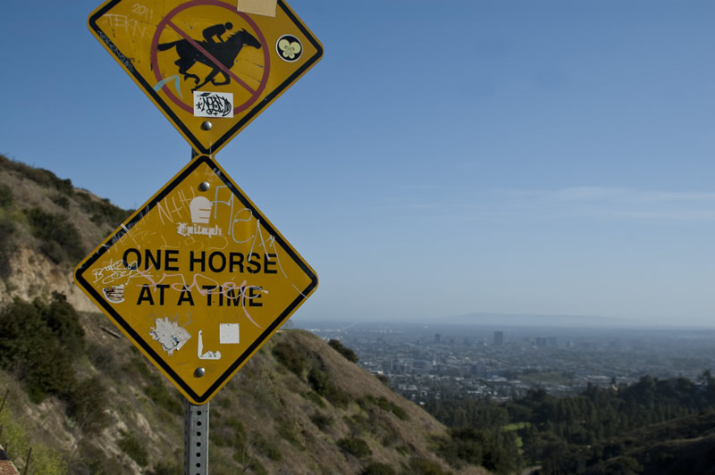 Griffith Park April 2012 one horse at a time