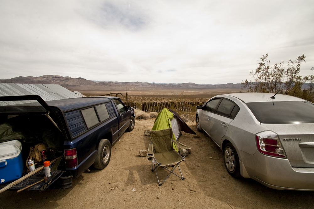 Camping at Coso Junction aka Rotten Ranch. Mojave Desert, California