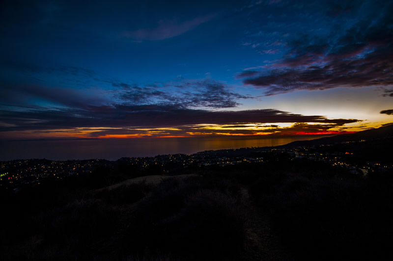 Temescal Canyon Hike, Sunset